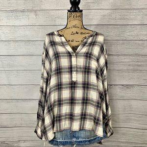 Old Navy | Women's Plaid Tunic Shirt Size XL